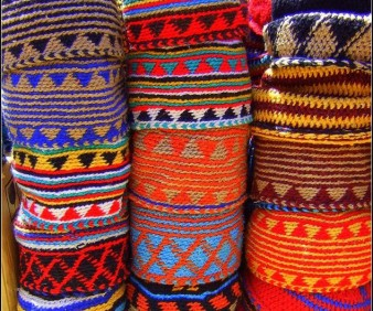 shopping for textiles in Morocco