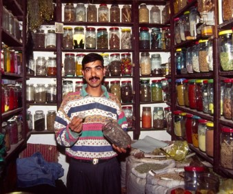 buying herbs and oils in Morocco